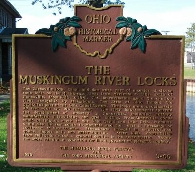 The Muskingum River Locks Marker image. Click for full size.