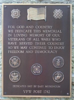 New Concord War Memorial VFW Marker image. Click for full size.