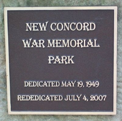 New Concord War Memorial Park Marker image. Click for full size.