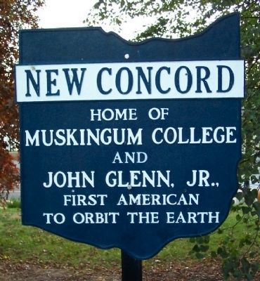 Former New Concord Corporate Limit Marker image. Click for full size.