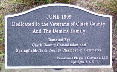 Veterans of Clark County and The DeMint Family Marker image. Click for full size.