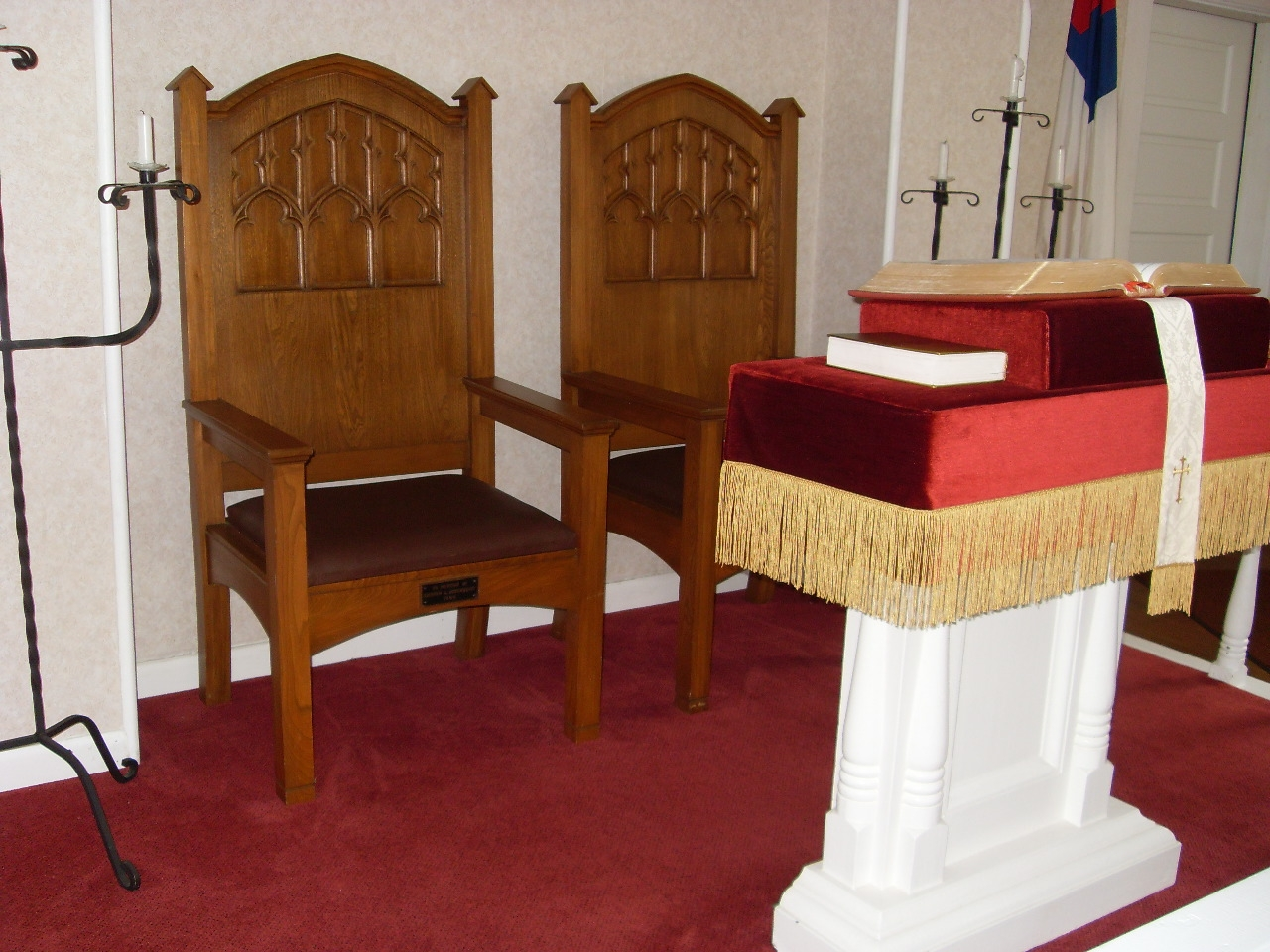 Inside Jacksonport United Methodist Church - the Pulpit