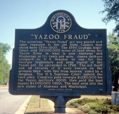 """Yazoo Fraud"" Marker image. Click for full size."