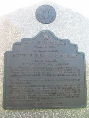Battery F, Fourth U.S. Artillery Tablet image. Click for full size.