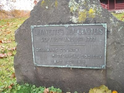 Lafayette's Headquarters Marker image. Click for full size.