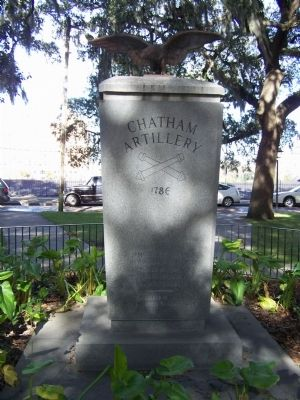 The Chatham Artillery Marker, south face image. Click for full size.