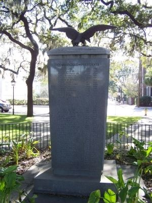 The Chatham Artillery Marker, north face image. Click for full size.