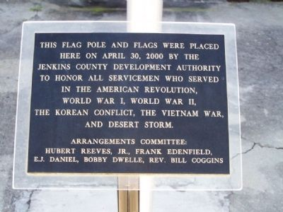 Millen Flagpole Marker image. Click for full size.