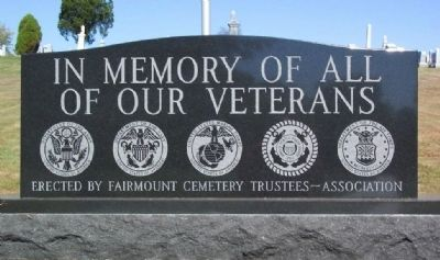 Fairmount Cemetery Veterans Memorial image. Click for full size.