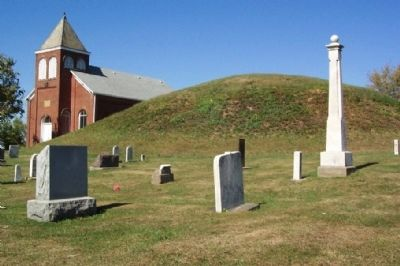Fairmount Presbyterian Church and Indian Mound image. Click for full size.