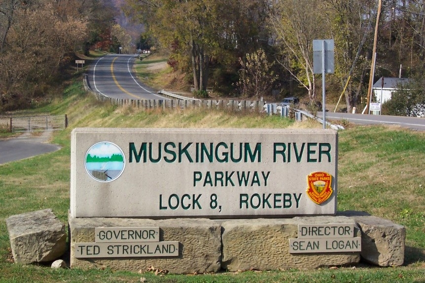 Muskingum River Parkway Lock No. 8 Park Sign