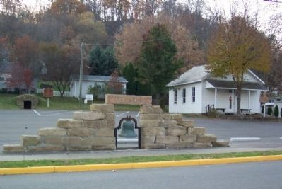 Rock Hollow School and Marker (far right) image. Click for full size.