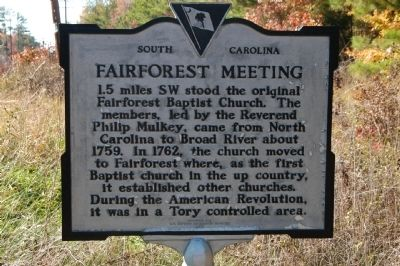 Fairforest Meeting Marker image. Click for full size.