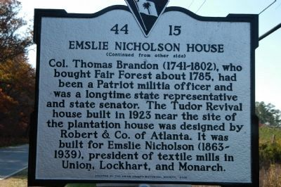 Emslie Nicholson House Marker image. Click for full size.
