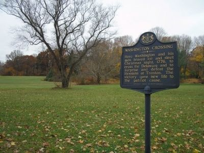 Marker in Washington Crossing image. Click for full size.
