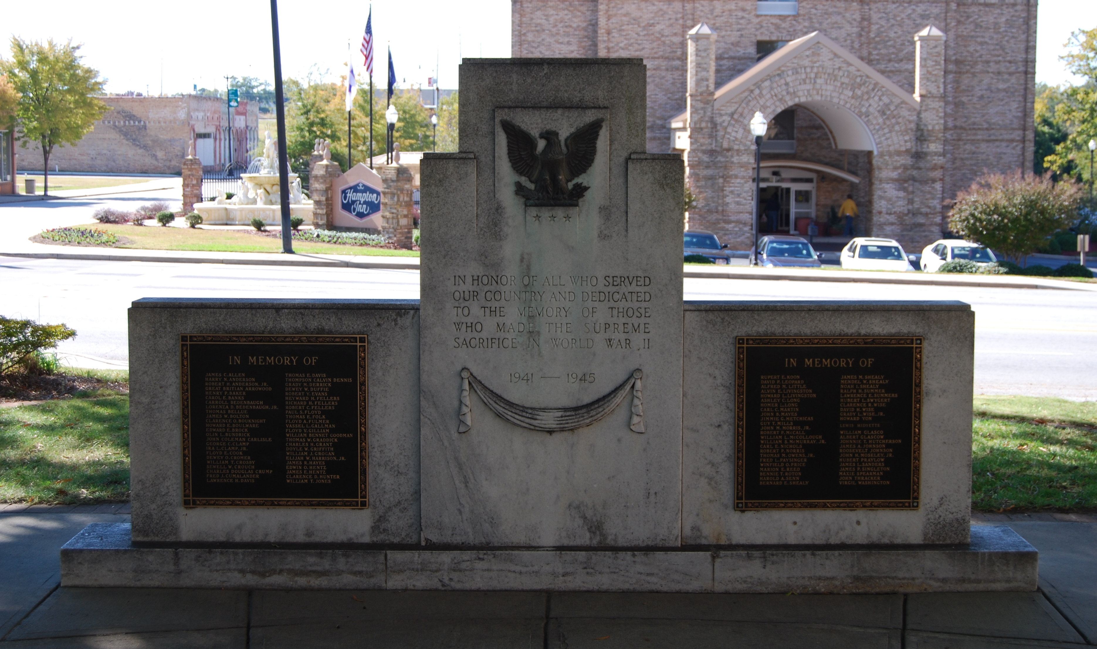 Newberry County World War II Monument Marker