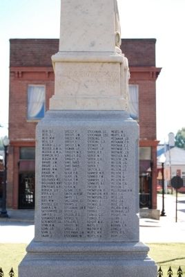 Newberry County Confederate Monument Marker - Northwest Side image. Click for full size.