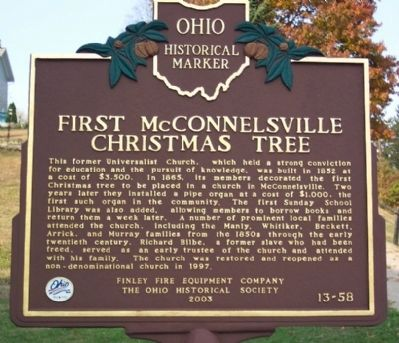 First McConnelsville Christmas Tree Marker image. Click for full size.