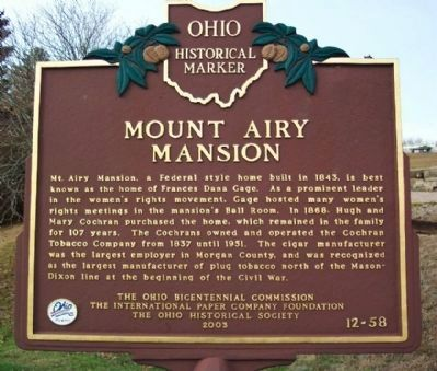 Mount Airy Mansion Marker image. Click for full size.