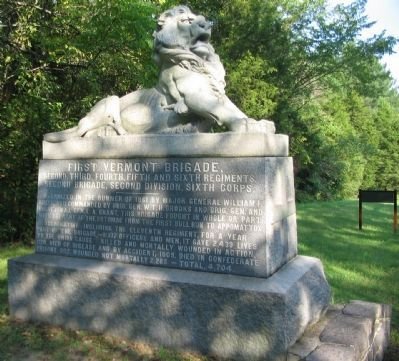 First Vermont Brigade Monument image. Click for full size.