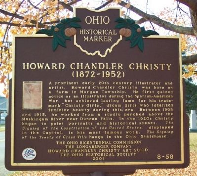 Howard Chandler Christy Marker image. Click for full size.