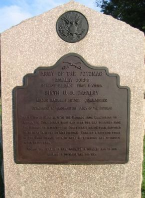 Sixth U.S. Cavalry Tablet image. Click for full size.