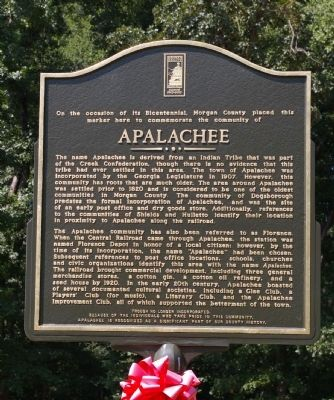 Apalachee Marker image. Click for full size.
