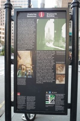 Woolworth Building Marker image. Click for full size.