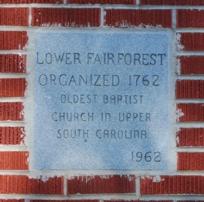 Lower Fairforest Baptist Church Cornerstone image. Click for full size.