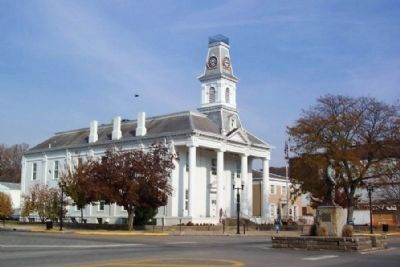 Morgan County Courthouse and Marker image. Click for full size.
