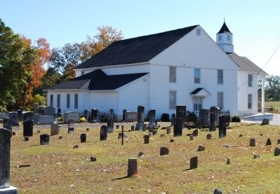 Padgett's Creek Baptist Church and Cemetery image. Click for full size.
