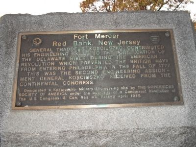 Fort Mercer Marker image. Click for full size.