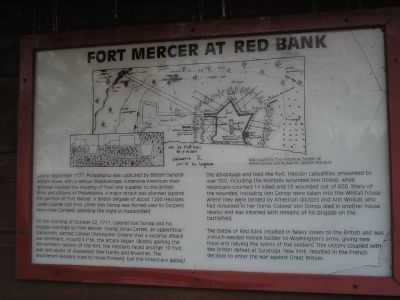 Fort Mercer at Red Bank Marker image. Click for full size.