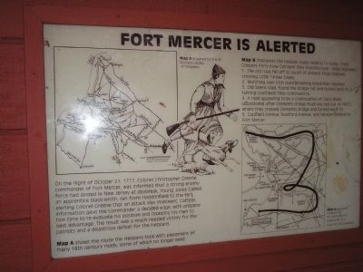 Fort Mercer is Alerted Marker image. Click for full size.