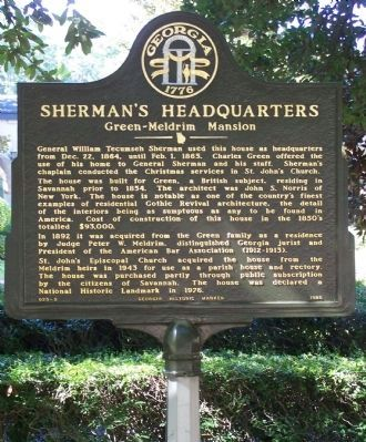 Sherman`s Headquarters Marker image. Click for full size.