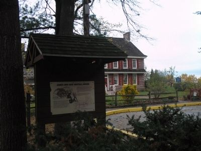 Marker with Whitall House image. Click for full size.