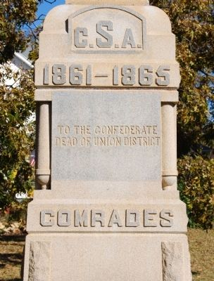 Jonesville Confederate Monument Marker - West Side image. Click for full size.