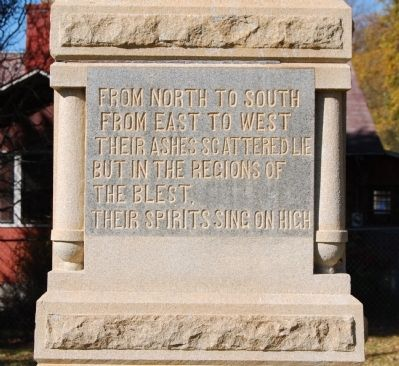 Jonesville Confederate Monument Marker - South Side image. Click for full size.