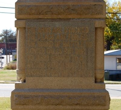 Jonesville Confederate Monument Marker - East Side image. Click for full size.