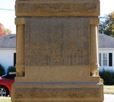 Jonesville Confederate Monument Marker - North Side image. Click for full size.