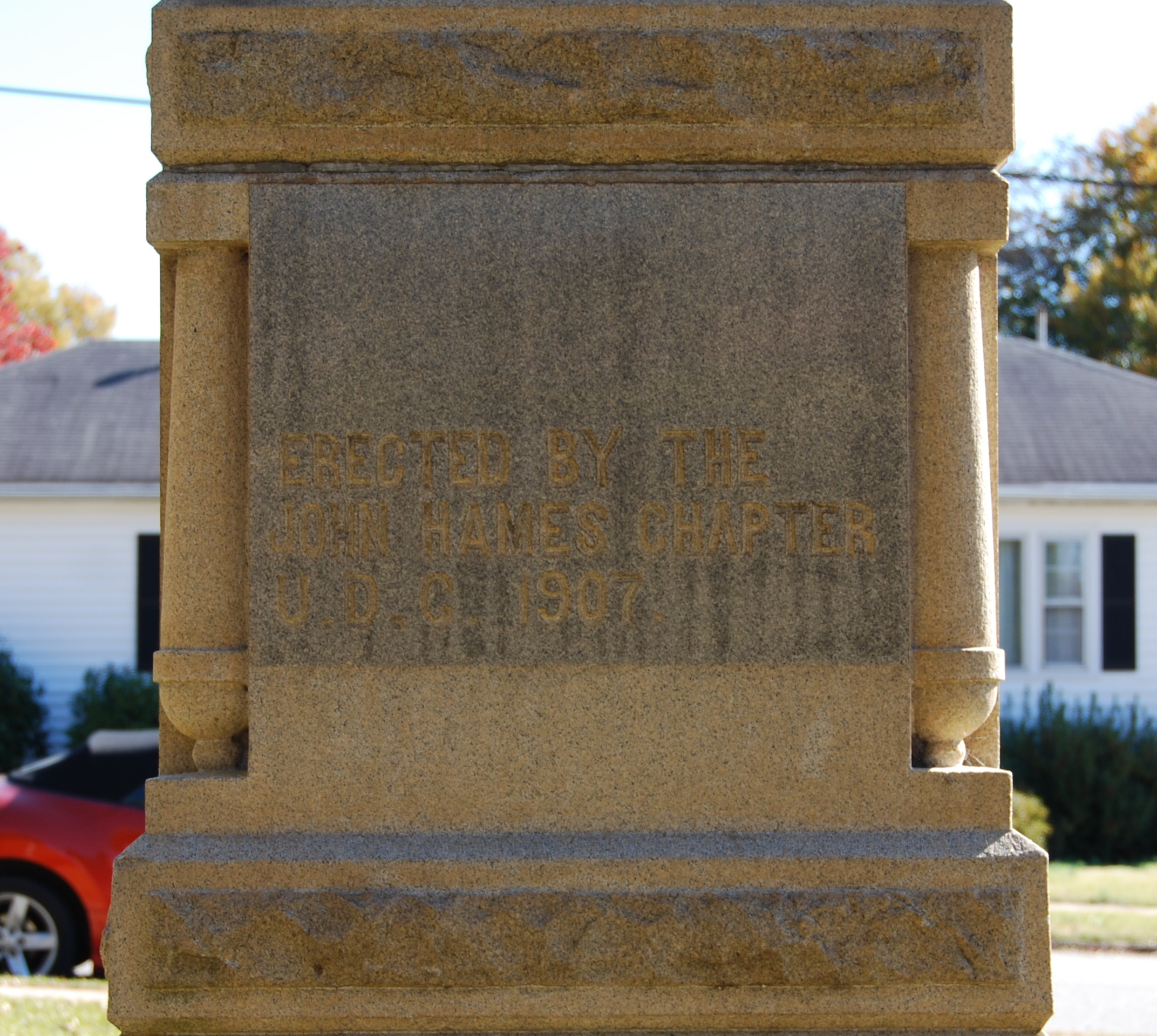 Jonesville Confederate Monument Marker - North Side