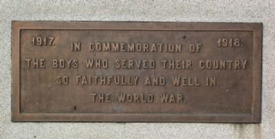McConnelsville World War I Memorial Marker image. Click for full size.