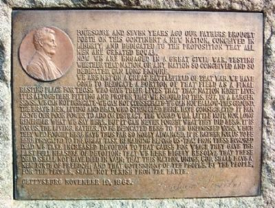 Lincoln's Gettysburg Address image. Click for full size.