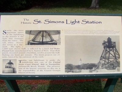 The Historic St Simons Light Station Marker image. Click for full size.