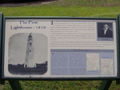 The First Light House ~ 1810 Marker image. Click for full size.