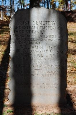 Gist Cemetery Marker image. Click for full size.