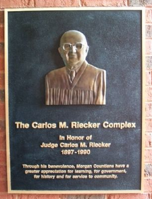 The Carlos M. Riecker Complex Marker image. Click for full size.