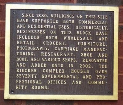 The Carlos M. Riecker Complex Historical Marker image. Click for full size.
