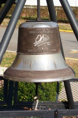 Morgan County Bicentennial Bell in Rotary Park at the Carlos M. Riecker Complex Marker image. Click for full size.