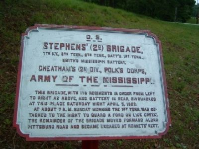 Stephens' (2d) Brigade Marker image. Click for full size.